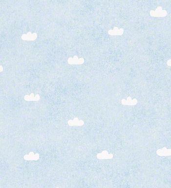 Papel pintado para bebés - infantil nubes con fondo celeste - 40573 - fondo nubes