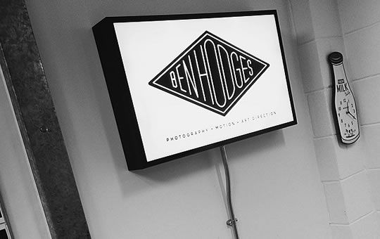 Illuminated Lightbox Sign For Ben Hodges Wakefield By MarqueMakers Sheffield UK