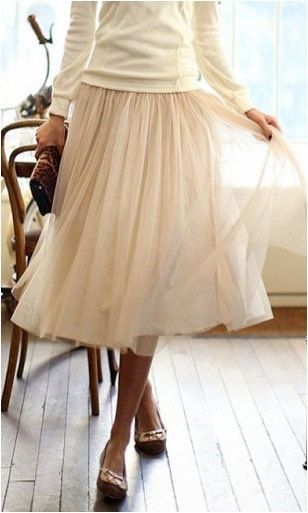 twirly tulle skirt