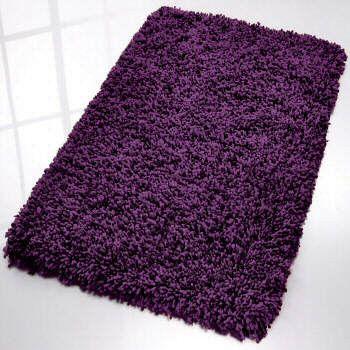 Fantasy Modern Shag Bath Rug From Vita Futura Modern Bath Mats Tampa Vita Futura Purple Bath Rugs Purple Bath Mat Shag Bath Rug