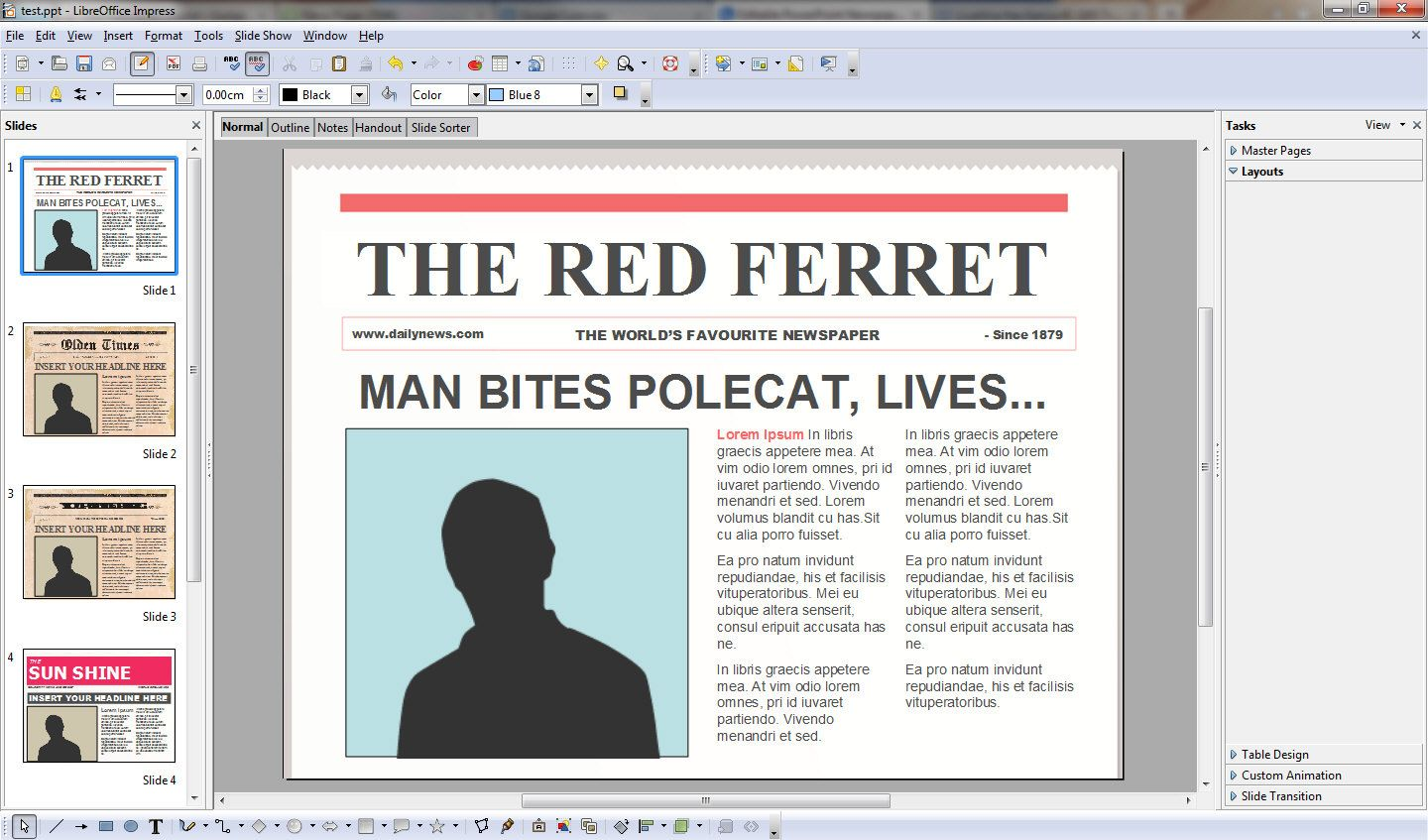 Free Powerpoint Newspaper Templates Turns You Into An Instant