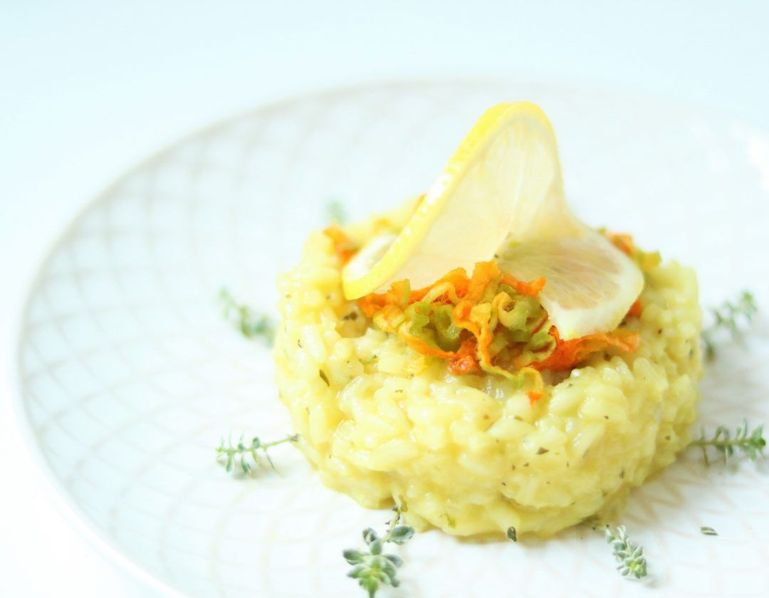 Zitronen-Thymian Risotto - Delicious Stories