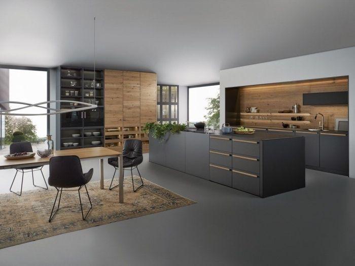 ▷ 1001 + exemples sublimes de la cuisine noire et bois | Home ...