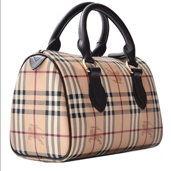Burberry Haymarket Bowling Bag. NEVER USED! DUST BAG