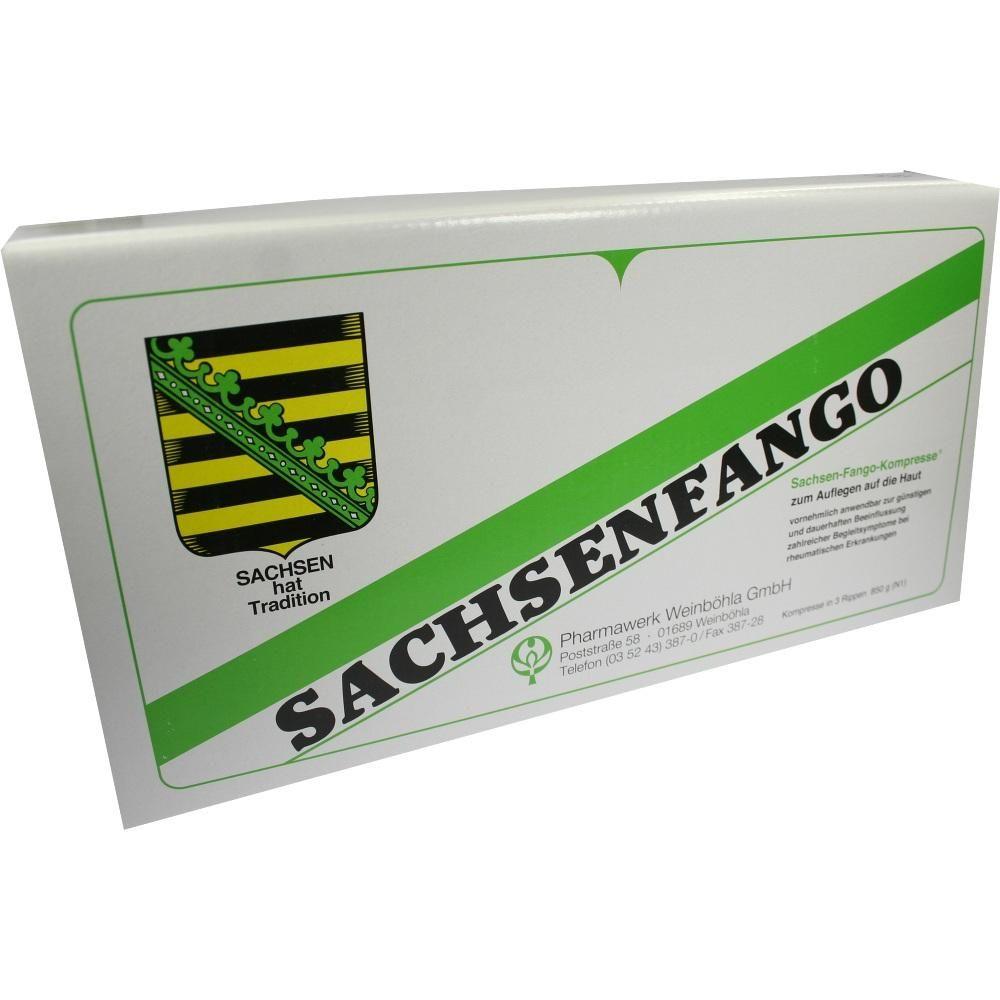 SACHSEN Fango-Kompresse:   Packungsinhalt: 850 g Kompressen PZN: 04024256 Hersteller: WH Pharmawerk Weinböhla GmbH Preis: 9,55 EUR inkl.…