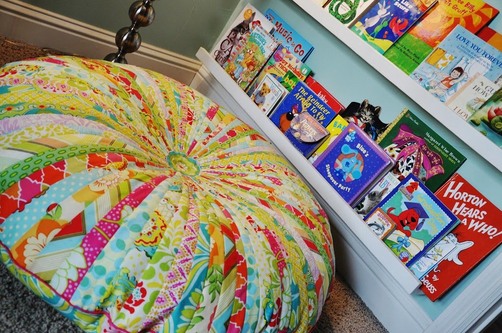 Made: Jelly Roll Floor Pillow..tutorial for pieced and appliqued ...