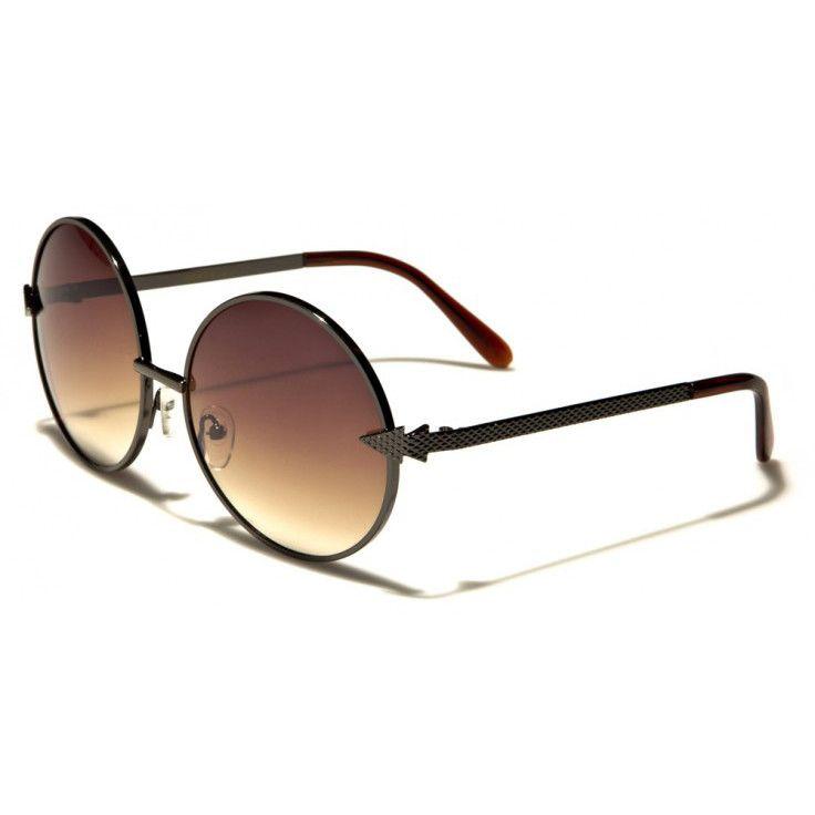 3f6557d549 Retro Rewind Unisex Round Sunglasses Gray with Brown Lenses ...
