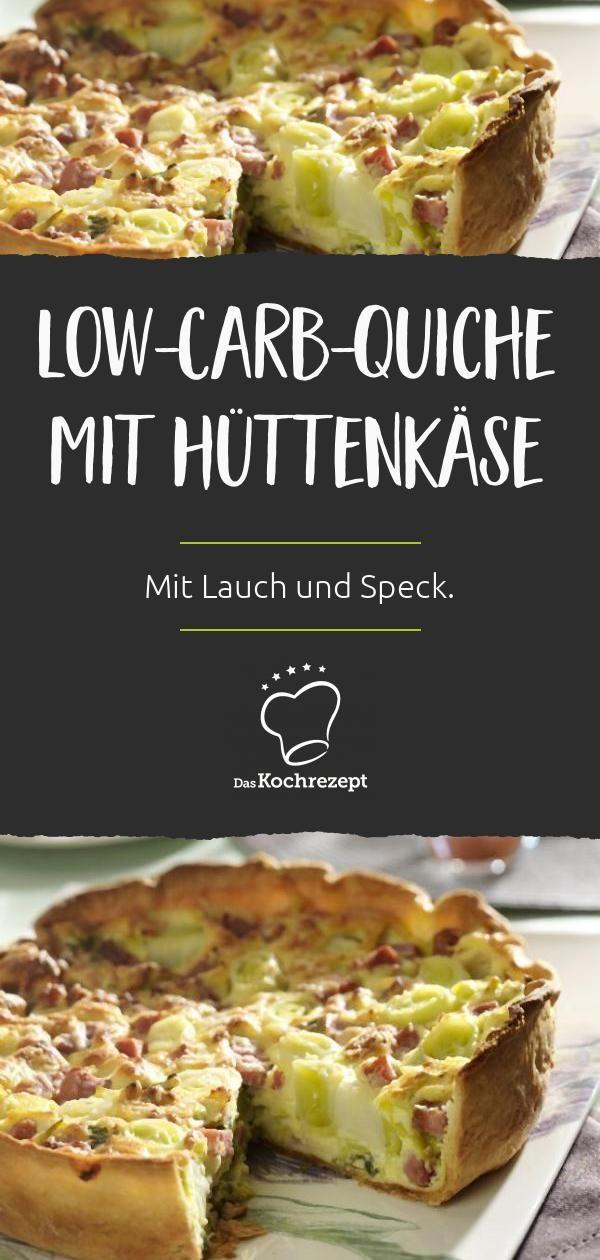 Low-Carb-Quiche mit Hüttenkäse #kohlenhydratarmerezepte