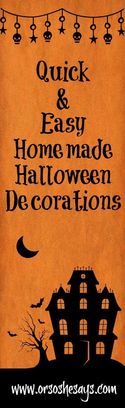 Homemade Halloween Decorations - Quick  Easy! Homemade halloween - fun homemade halloween decorations
