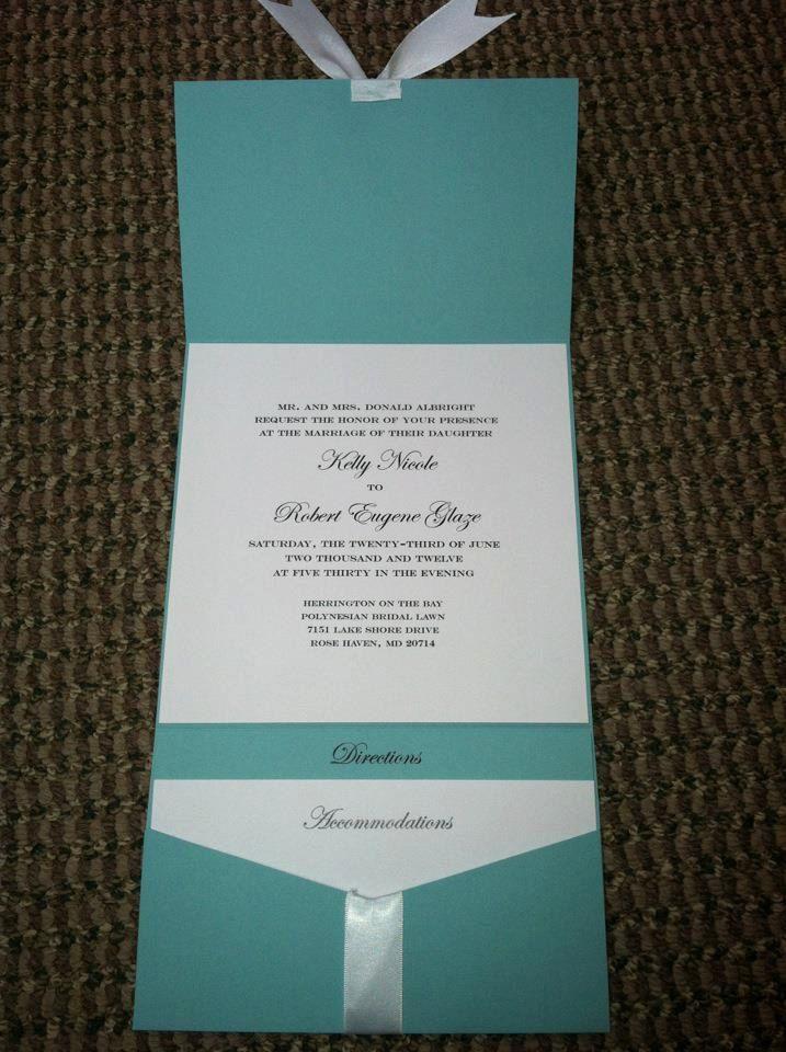 Tiffanys Themed Wedding Invitation Suite 30 invitations 22500