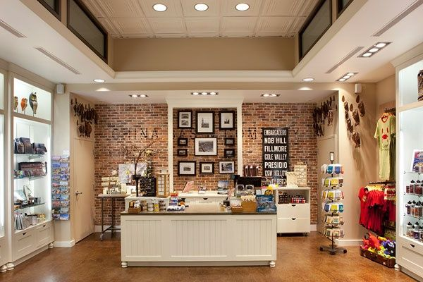 Love The Brick Accent Wall Cash Wrap Store Interiors