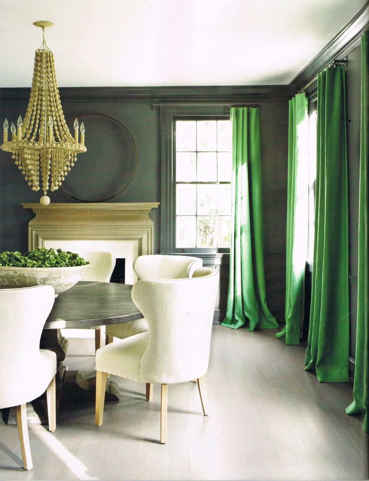 fresh and classy green gold dining room interior design by kay