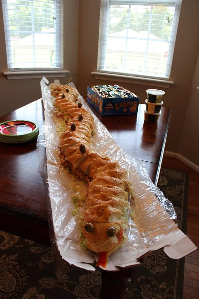 6ft Sub Sandwich Snake Birthday Party Themes In 2019
