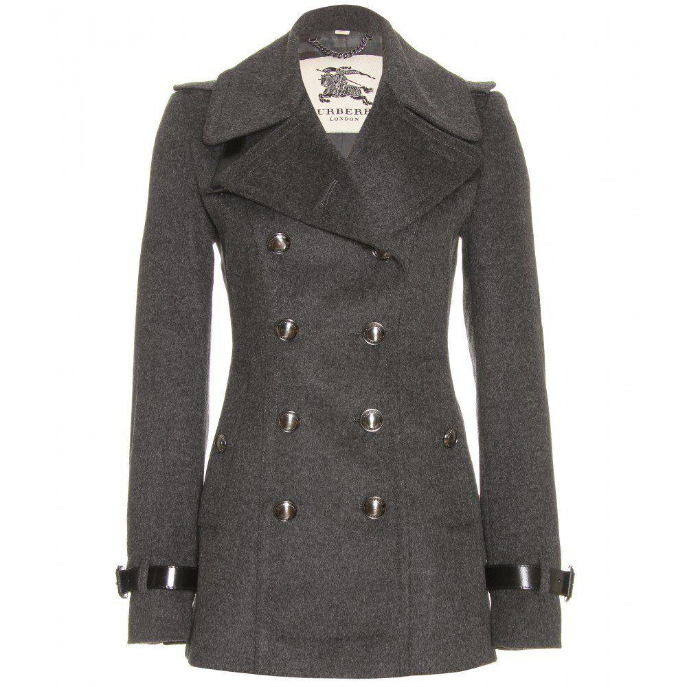 722fb20c7439 mytheresa.com - Burberry London - VYNER WOOL PEA COAT - Luxury Fashion for  Women / Designer clothing, shoes, bags on Wanelo