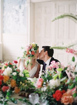 Botanical themed wedding | Anne Robert Photography | see more on: http://burnettsboards.com/2014/03/dreamy-abandoned-mansion-inspiration-shoot/