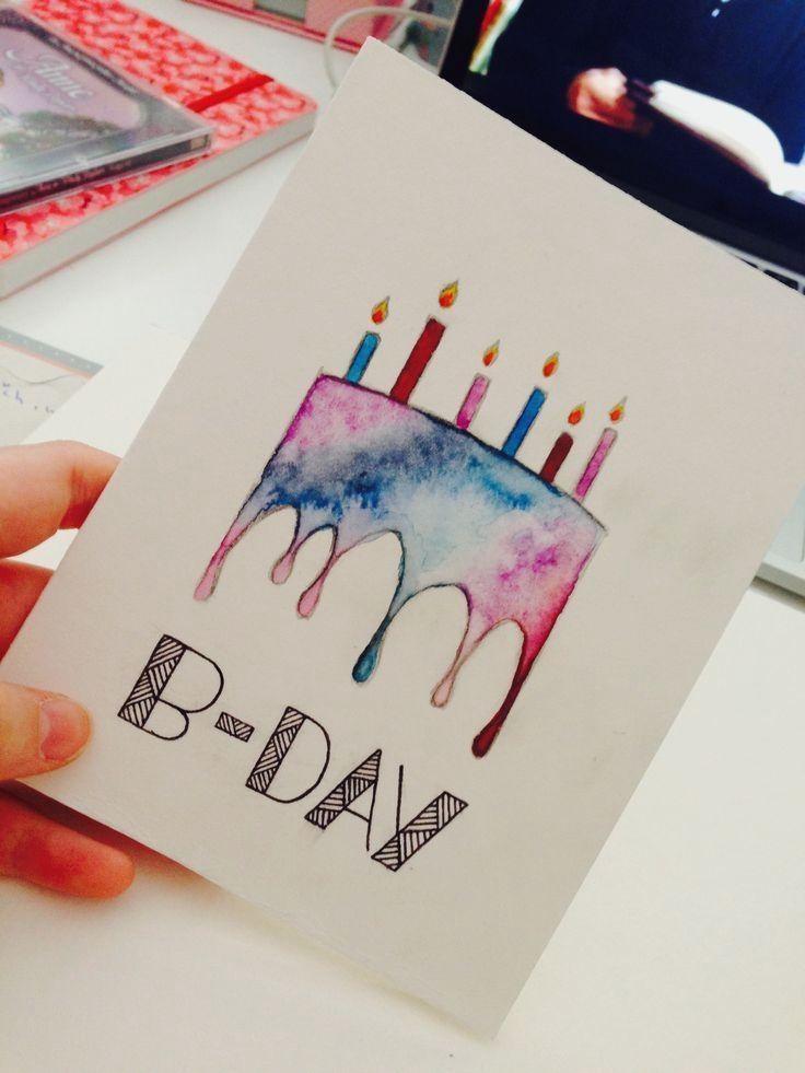 14 diy hacks in 2020 watercolor birthday cards cool