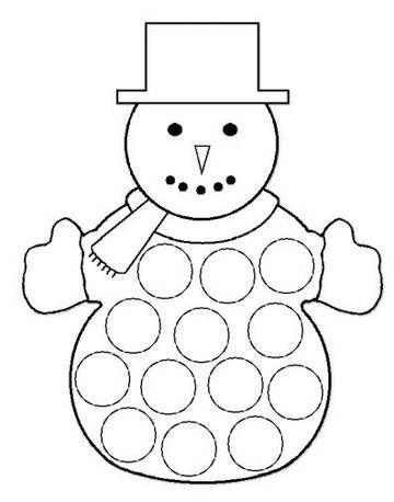 Art Activities for Kids. Handmade Snowmen Crafts for