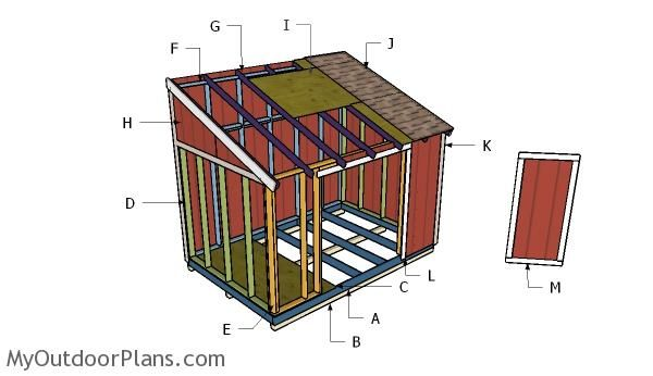 Building A 8x12 Lean To Shed Lean To Shed Plans Diy Shed Plans Diy Shed