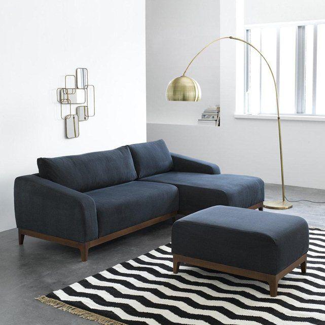 Image Demi canapé fixe MAL coton lin design E Gallina