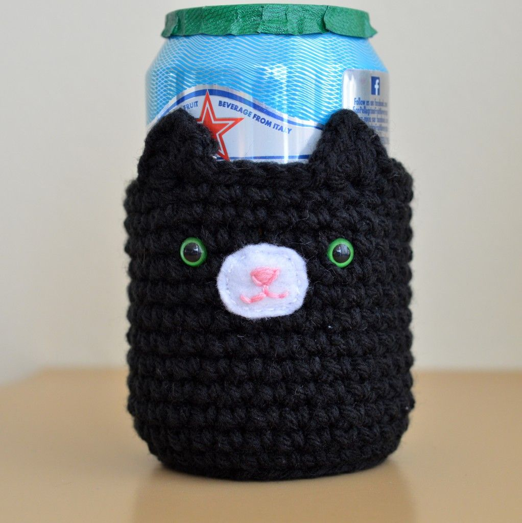 Cat Cosy for Cold Drinks | Pinterest | Frascos, Tejido y Agarraderas