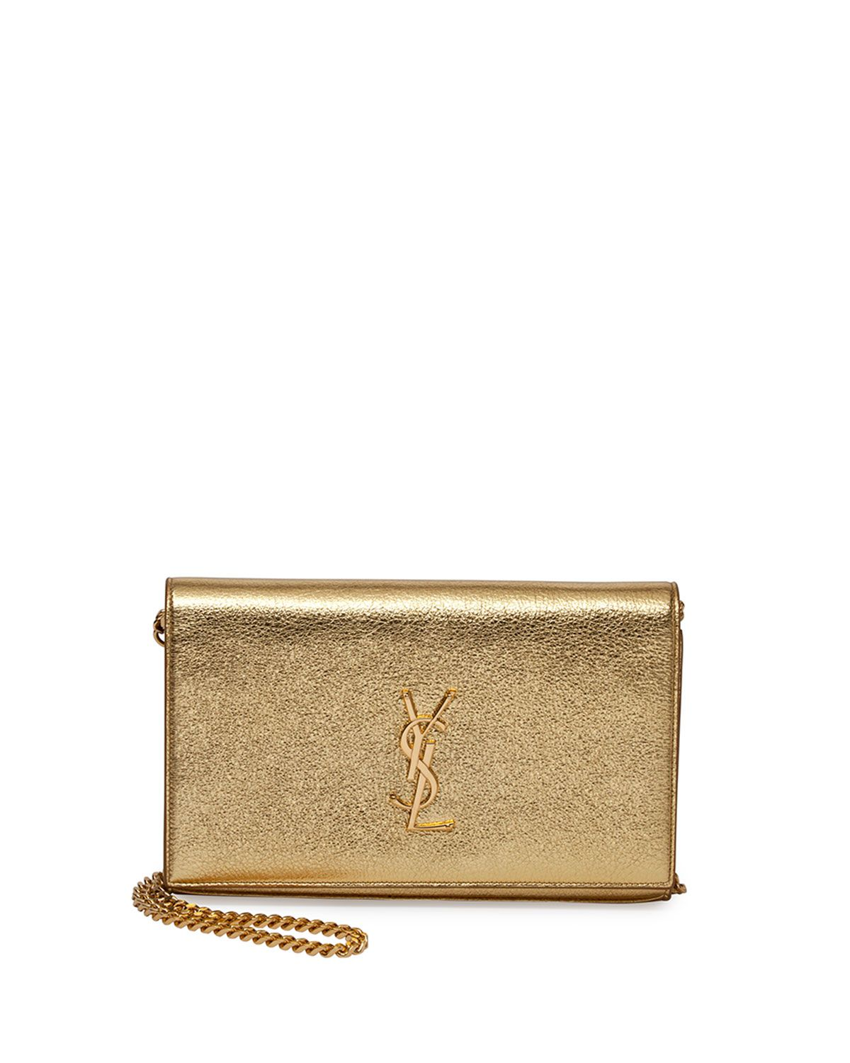 4c48948602e3 Yves Saint Laurent Monogram Metallic Chain Wallet
