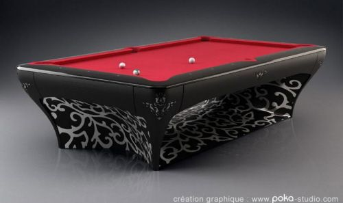 High End Pool Tables By Vincent Facquet Too Cool - High end pool table