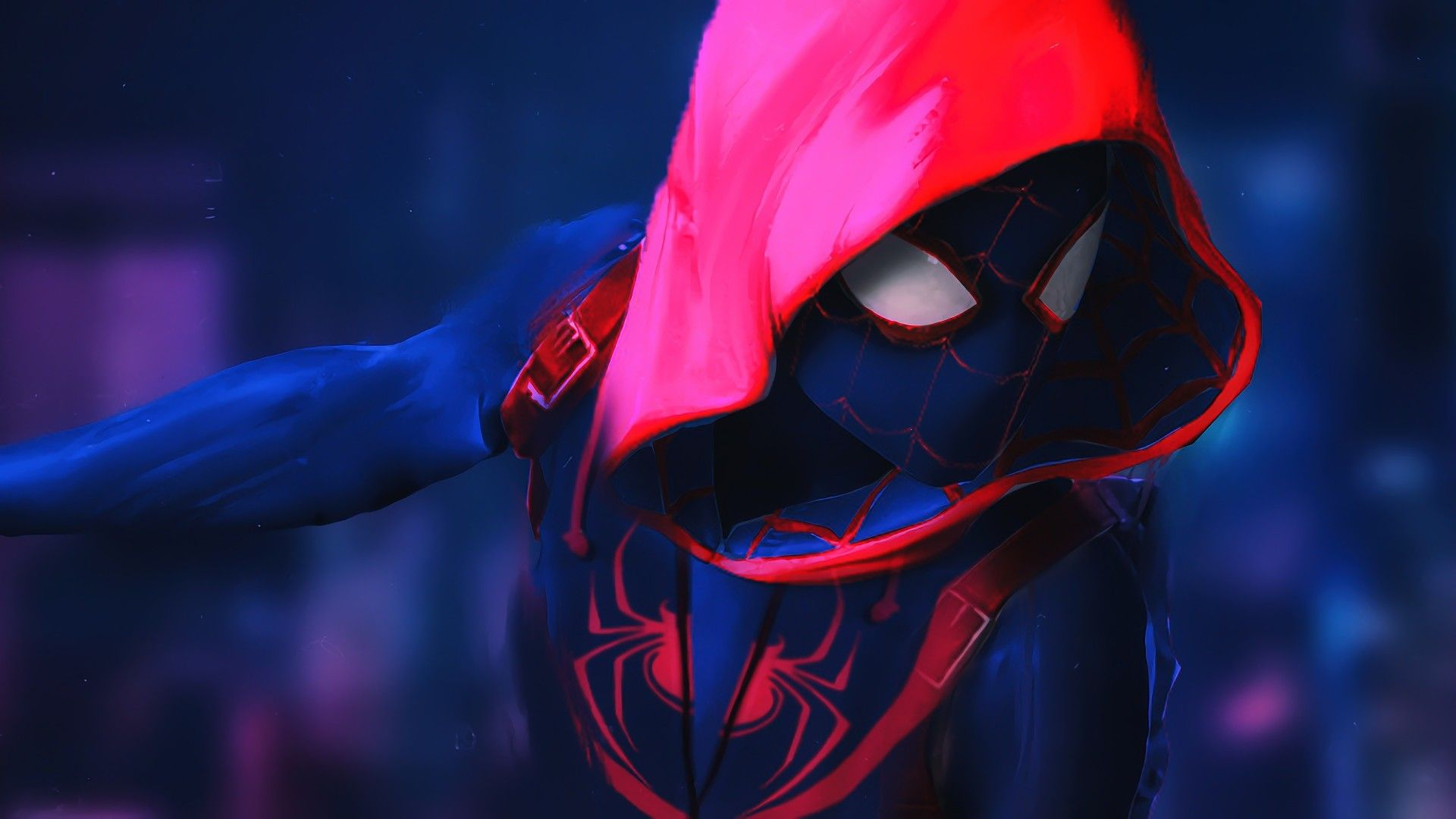 Into The Spider Verse Spiderman Spider Verse Movie Artwork