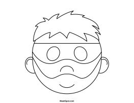 Printable Robber Mask Robber Mask Coloring Mask Mask