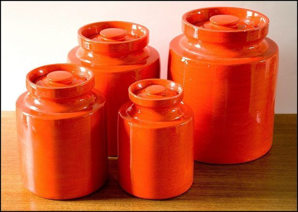 Kitchen Orange Canister Sets 1 Home Ideas Pinterest And Brown Kitchens