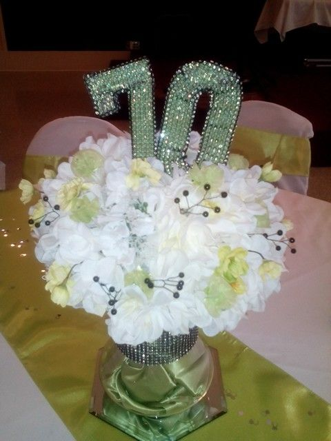 70th Birthday Party Centerpiece Parties 90th Celebration Ideas