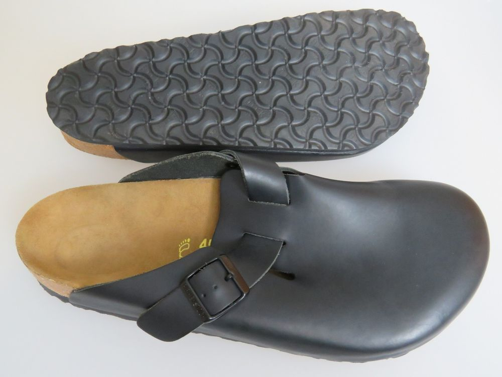 8d8541ceddf6 Birkenstock Boston Black Leather Mens Sandals Size 45 (US Mens 12) 290  Regular  Birkenstock  Sandals