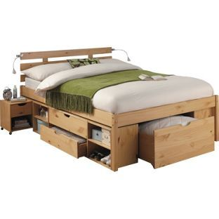 Ultimate Storage Double Bed Frame Pine Effect At Homebase Be Inspired And Make Your House A Home Now