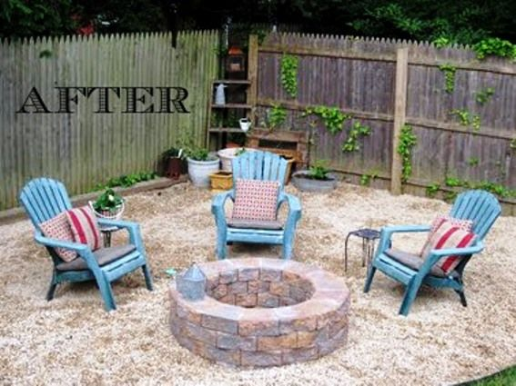 Diy Fire Pit Gravel Surround Backyard Fire Fire Pit Seating