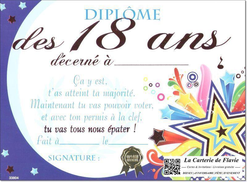 carte d invitation anniversaire 18 ans