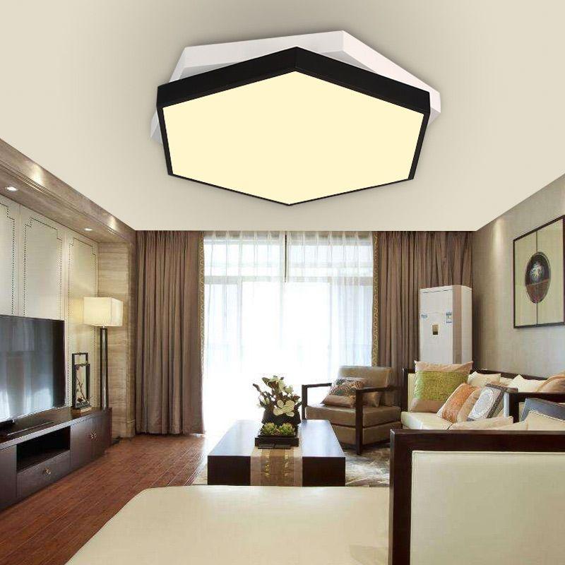LED Deckenleuchte Modern Sechseck Form aus Acryl Moderne - led wohnzimmer deckenleuchte