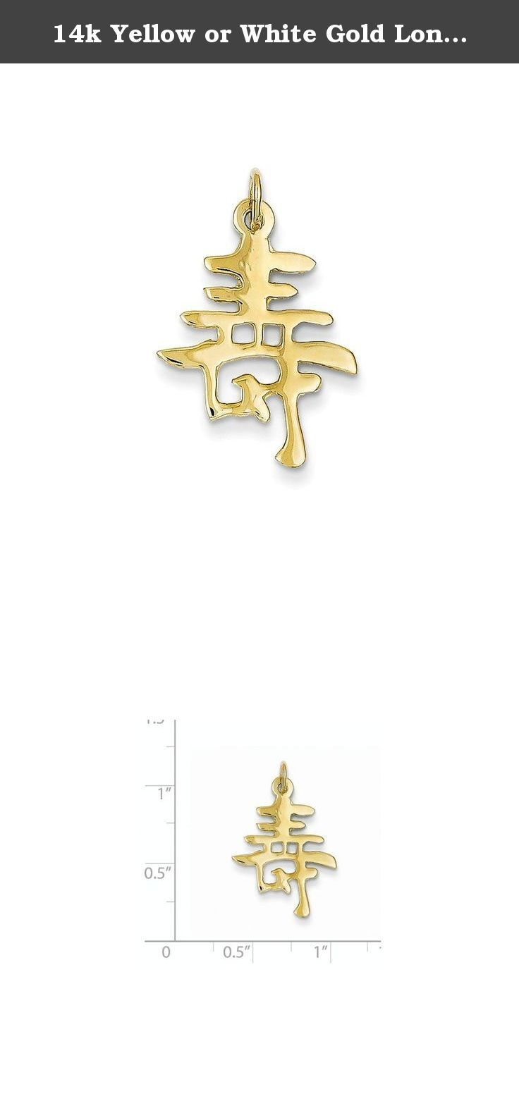 K yellow or white gold long life charm item weight gm charm