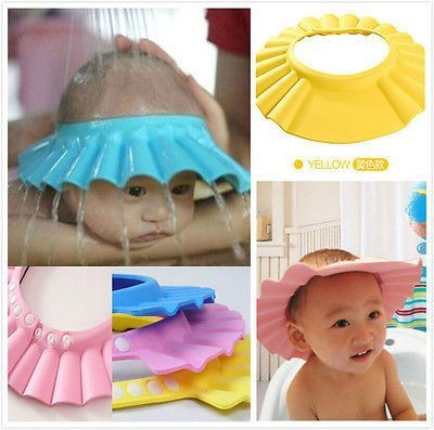 Tenworld Baby Children Kids Safe Shampoo Shower Bathing Protect Soft Cap Hat