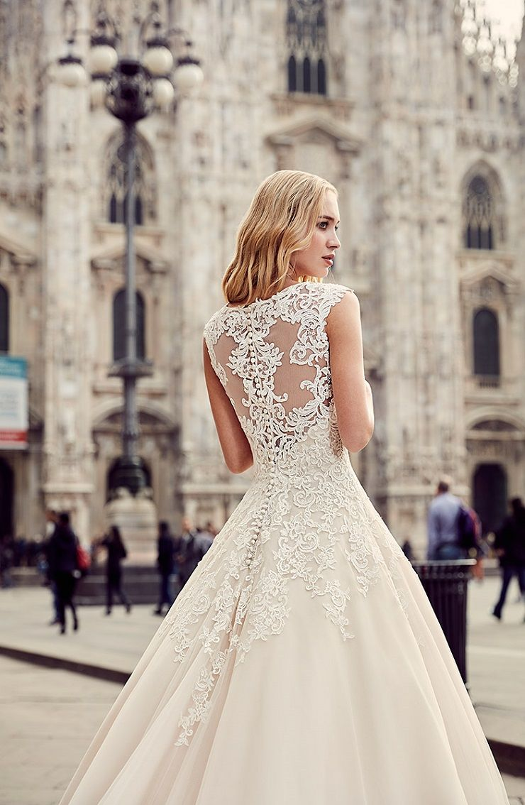 Eddy K Milano Style MD213 - Cap Sleeves, Ball Gown Tulle wedding dress | itakeyou.co.uk #weddingdress #wedding #weddingdresses #weddinggown #bridalgown #bridaldress #weddinggowns #engaged