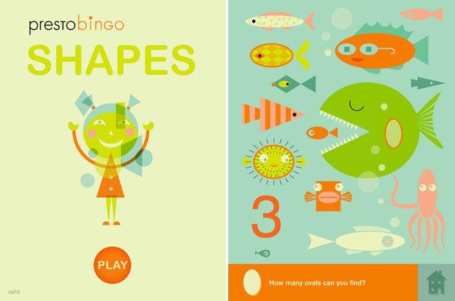 we love the illustrations on this cute kid iPad app: shapes
