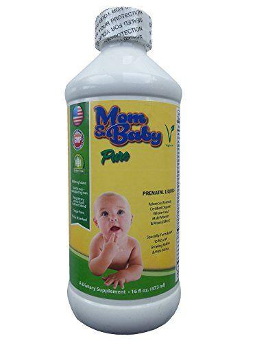 Mom Baby Prenatal Multivitamin Liquid Supplement 800mcg Folate Nonconstipating Iron Certified Organic Wholef Prenatal Liquid Supplements Prenatal Multivitamin