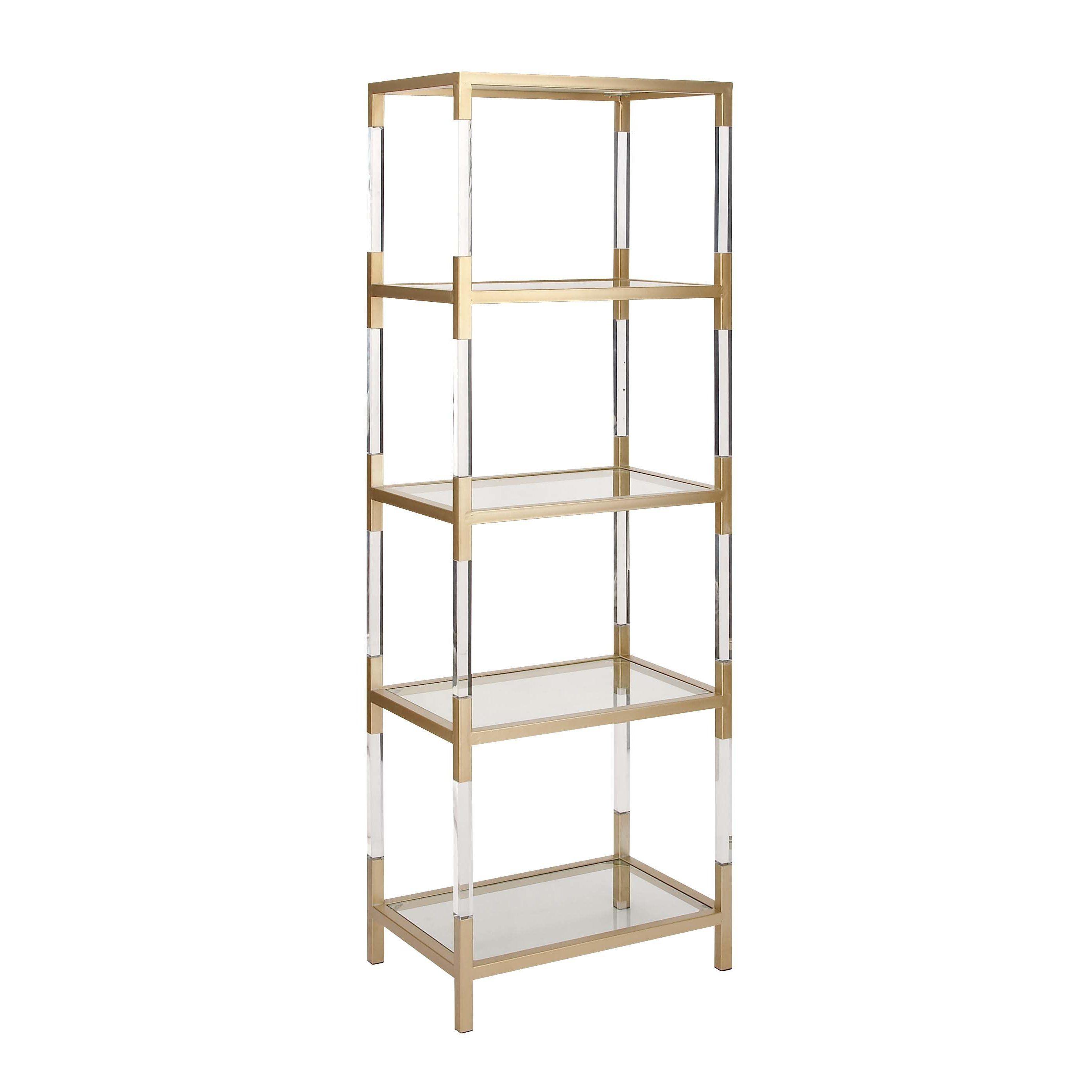 Cole Grey Metal Gl Acrylic 69 Standard Bookcase