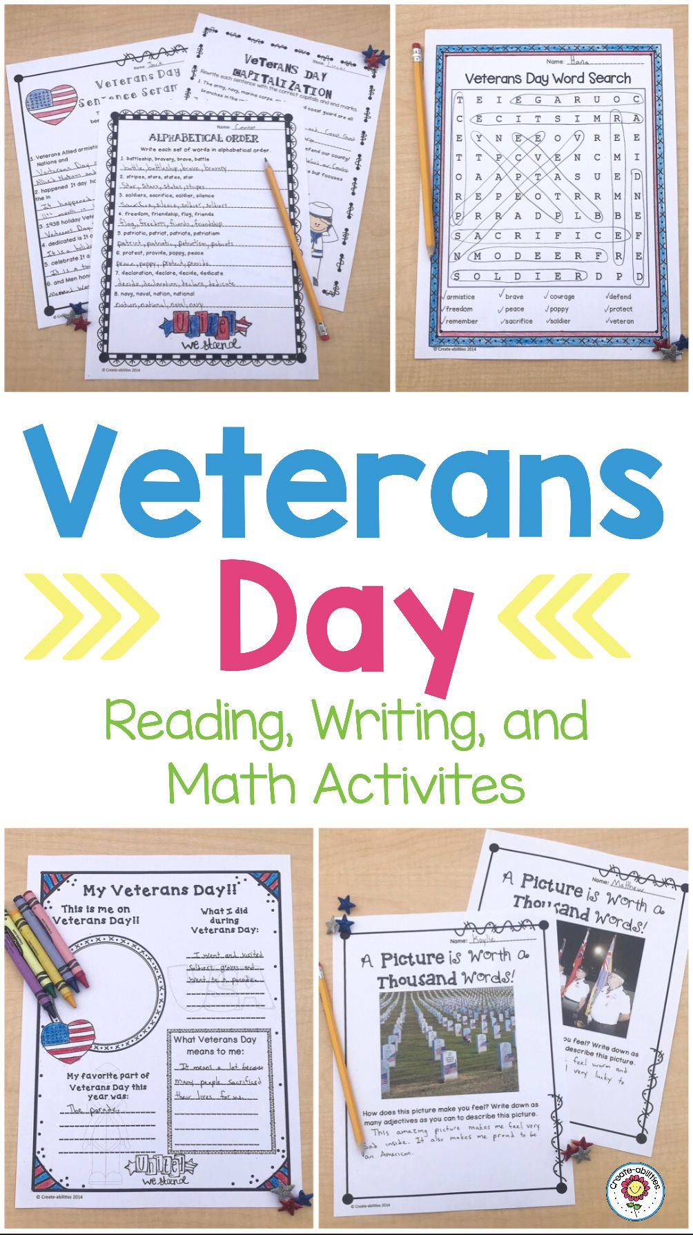 Veterans Day Reading and Writing Activities - Use this resource with your  2nd [ 1789 x 1004 Pixel ]