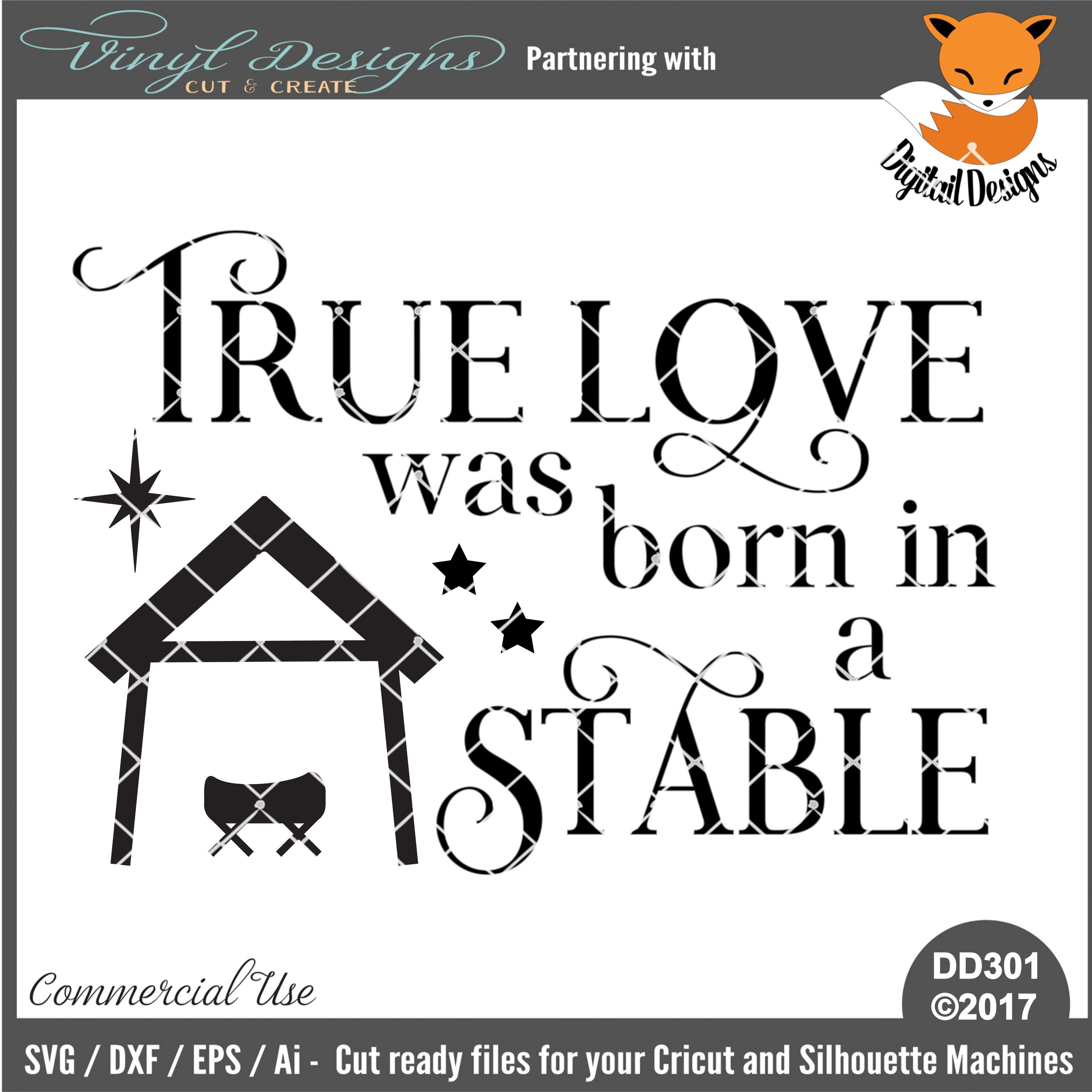 Download DD301 - True Love was Born In A Stable. Sold By Digitail ...
