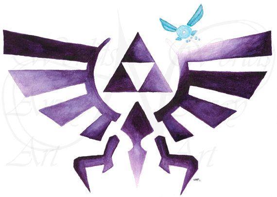 CUSTOM - Wingcrest  Loftwing with triforce  Zelda  Ocarina