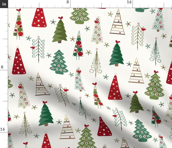 Colorful Fabrics Digitally Printed By Spoonflower Scandinavian Christmas Trees Classic In 2020 Scandinavian Christmas Christmas Tree Art Fabric Christmas Trees