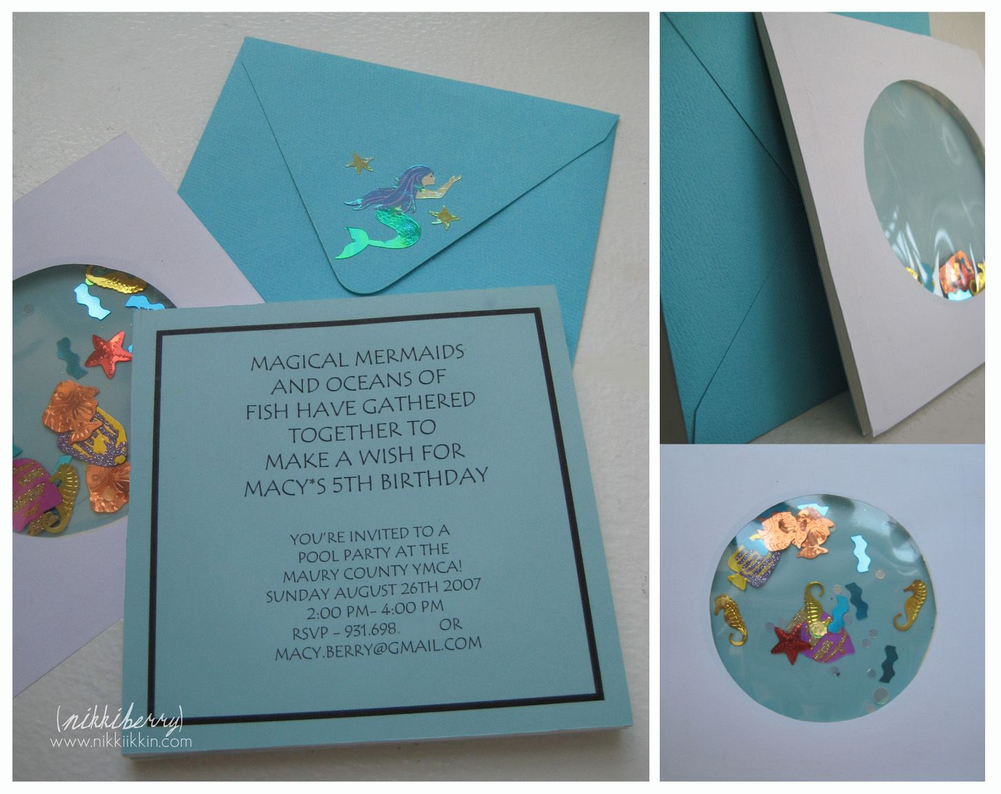 under the sea party invitations homemade Google Search – Homemade Pool Party Invitations