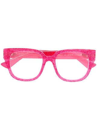 1427eb3564b Gucci Eyewear transparent glitter square glasses