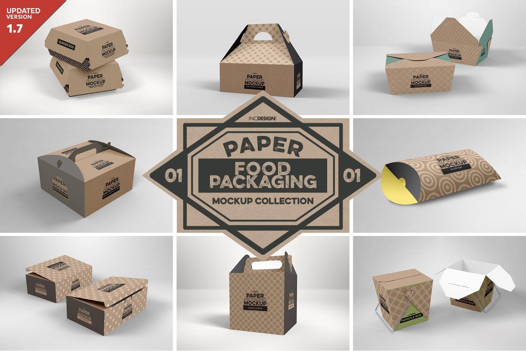 Download Vol 1 Food Box Packaging Mockups 64683 Branding Design Bundles In 2021 Food Box Packaging Packaging Mockup Fastfood Packaging