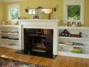Fireplace With Low Shelves On Both Sides Almost The Idea Make The