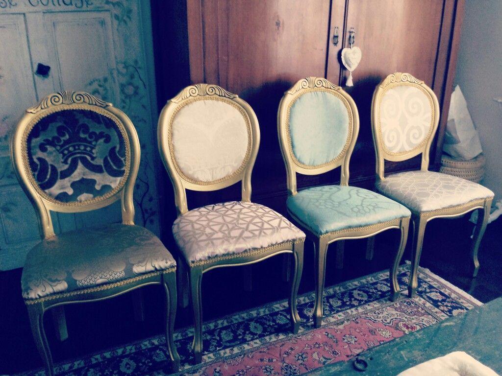 Sedie Antiquariato ~ Far rivivere le sedie antiche con colori e materiali nuovi
